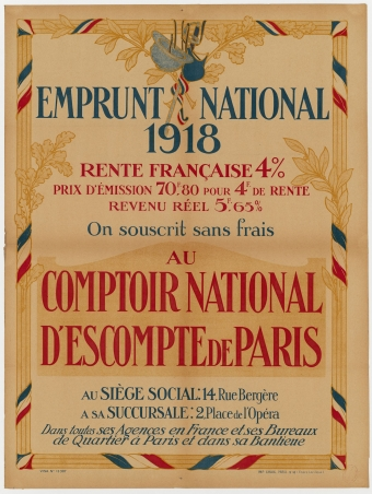 Comptoir national d'escompte de paris, emprunt national