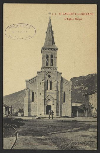 St-Laurent-en-Royans.L'Eglise neuve
