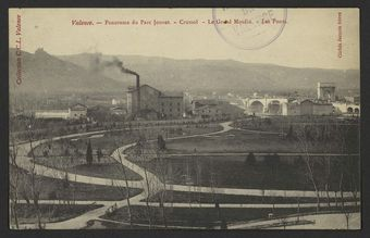 Valence - Panorama du Parc Jouvet - Crussol - Le Grand Moulin - Les Ponts