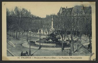 Valence - Boulevard Maurice-Clerc - La Fontaine Monumentale