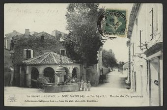 Mollans - Le lavoir. Route de Carpentras